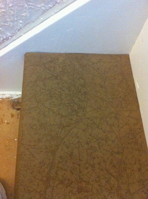 Brown Paper Bag Floor Covering http://hollyscorner.com/2012/11/27/brown-paper-bag-flooring-updates/