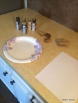 Getting ready to paint with acrylic craft paints.
