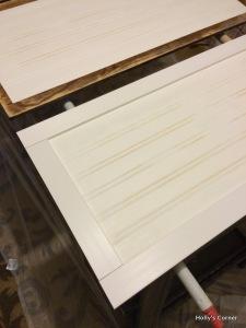 Measuring vinyl lattice trim.